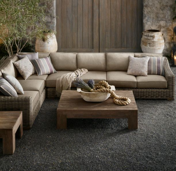 Provence L Sectional Cushion Set   Contemporary   Sectional Sofas   Restoration  Hardware
