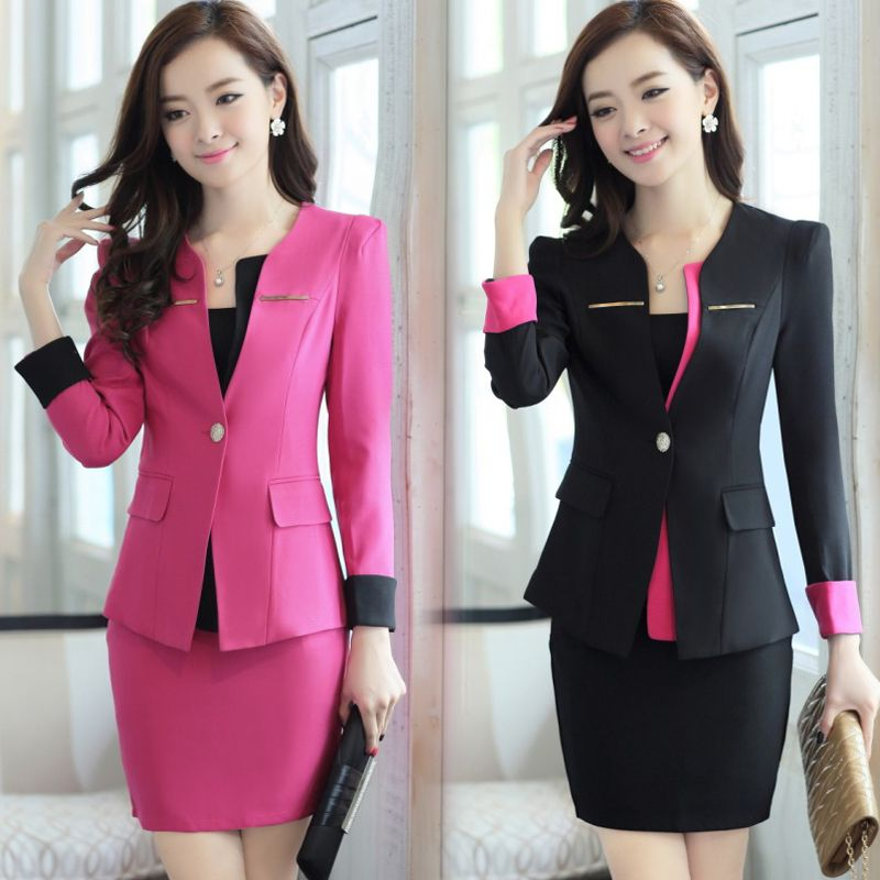 2014 spring and autumn women work wear / women's occupation suit ...