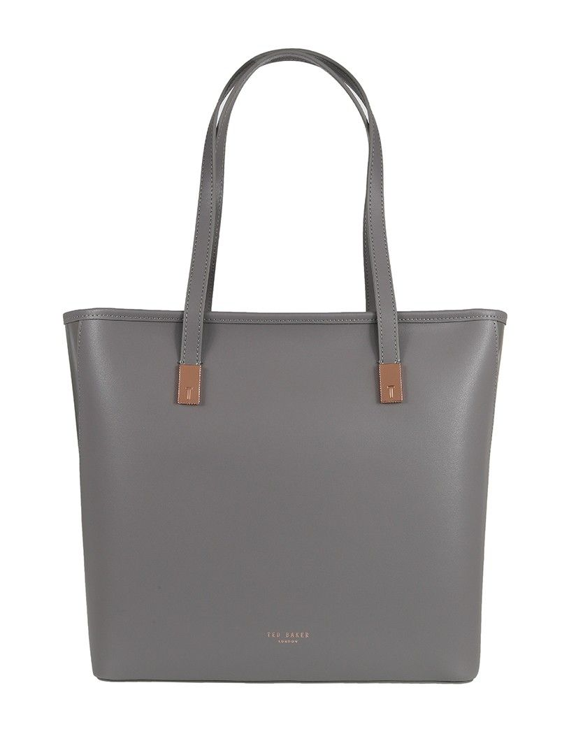 214623c45 Ted Baker Women s Cindyy Large Leather Shopper Bag - Mid Grey ...