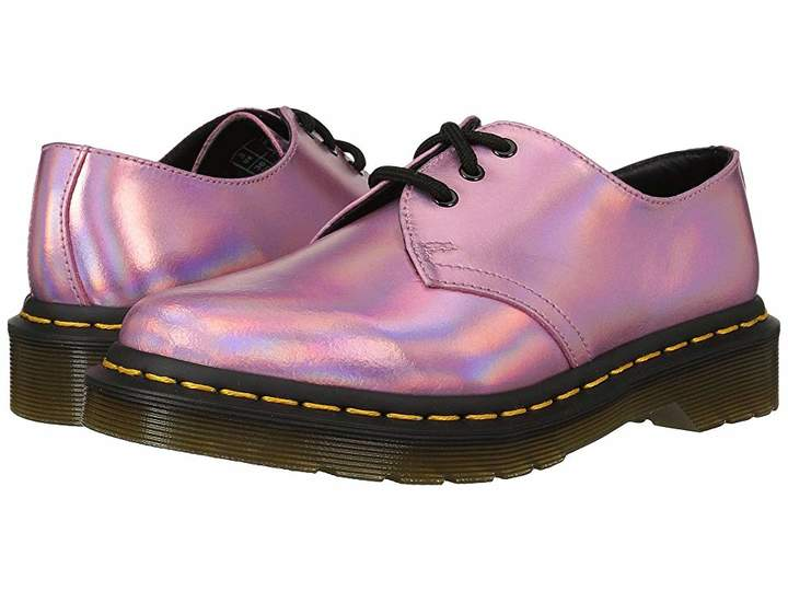 Dr Martens 1461 Rs 3 Eye Shoe Women S Lace Up Casual Shoes Leather Cowgirl Boots Pink Leather Shoes Slip Resistant Shoes