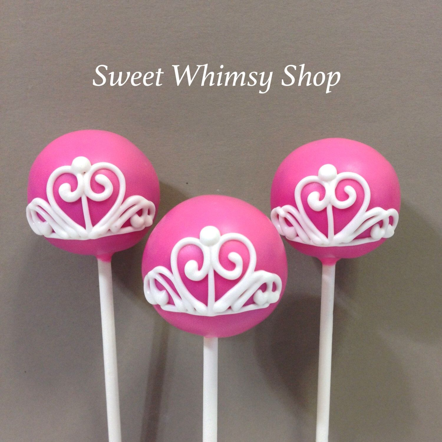 12 Princess Tiara Cake Pops for Disney theme, Fairytale, Cinderella ...