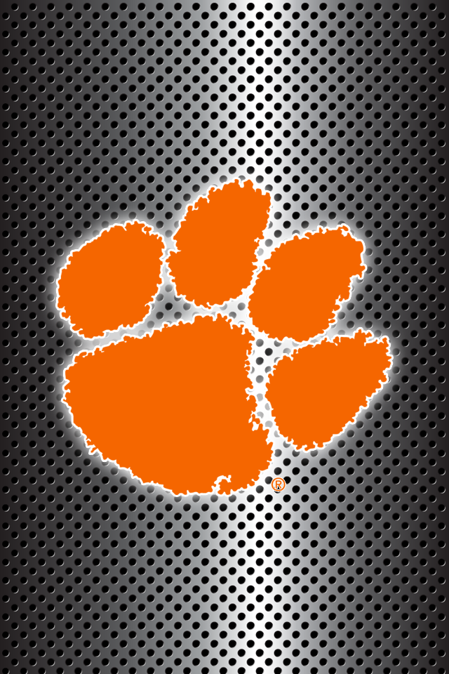 Get A Set Of 24 Officially Ncaa Licensed Clemson Tigers Iphone Wallpapers Sized Precisely For Any Mod Clemson Tigers Wallpaper Clemson Tigers Clemson Wallpaper
