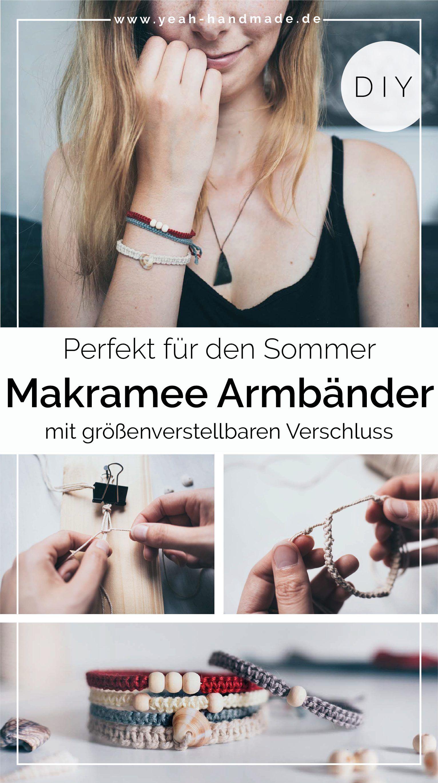Braccialetto macramè fai-da-te realizzato con nodi incrociati con conchiglie e perle • Sì fatto a mano
