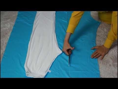 KENDİ KIYAFETİNLE KOLAY KALIP ÇIKARMA/ÇÖP POŞETİNE KALIP ÇIKARMA/Sewing Project for Beginners - YouTube #embroiderypatternsbeginner