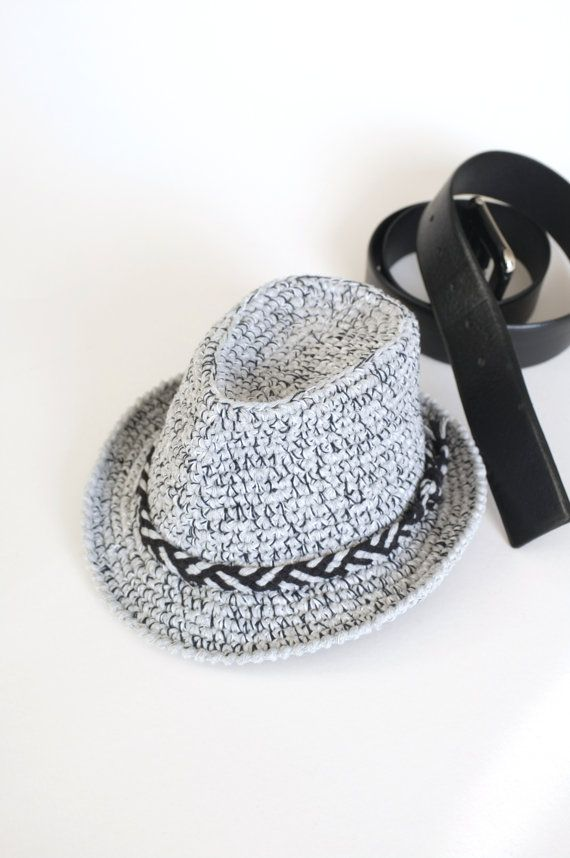 Grey Tweed Baby Fedora Hat Toddler Fedora Hat Crochet Trilby Hat ...