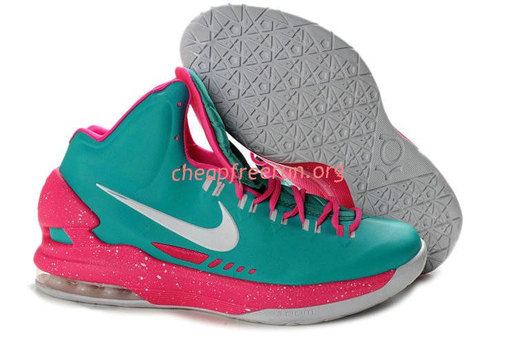 49ca345f4fd6 New Nike Zoom KD V Kevin Durant 5 Shoes For Sale Tiffany Blue Pink White  554988 401