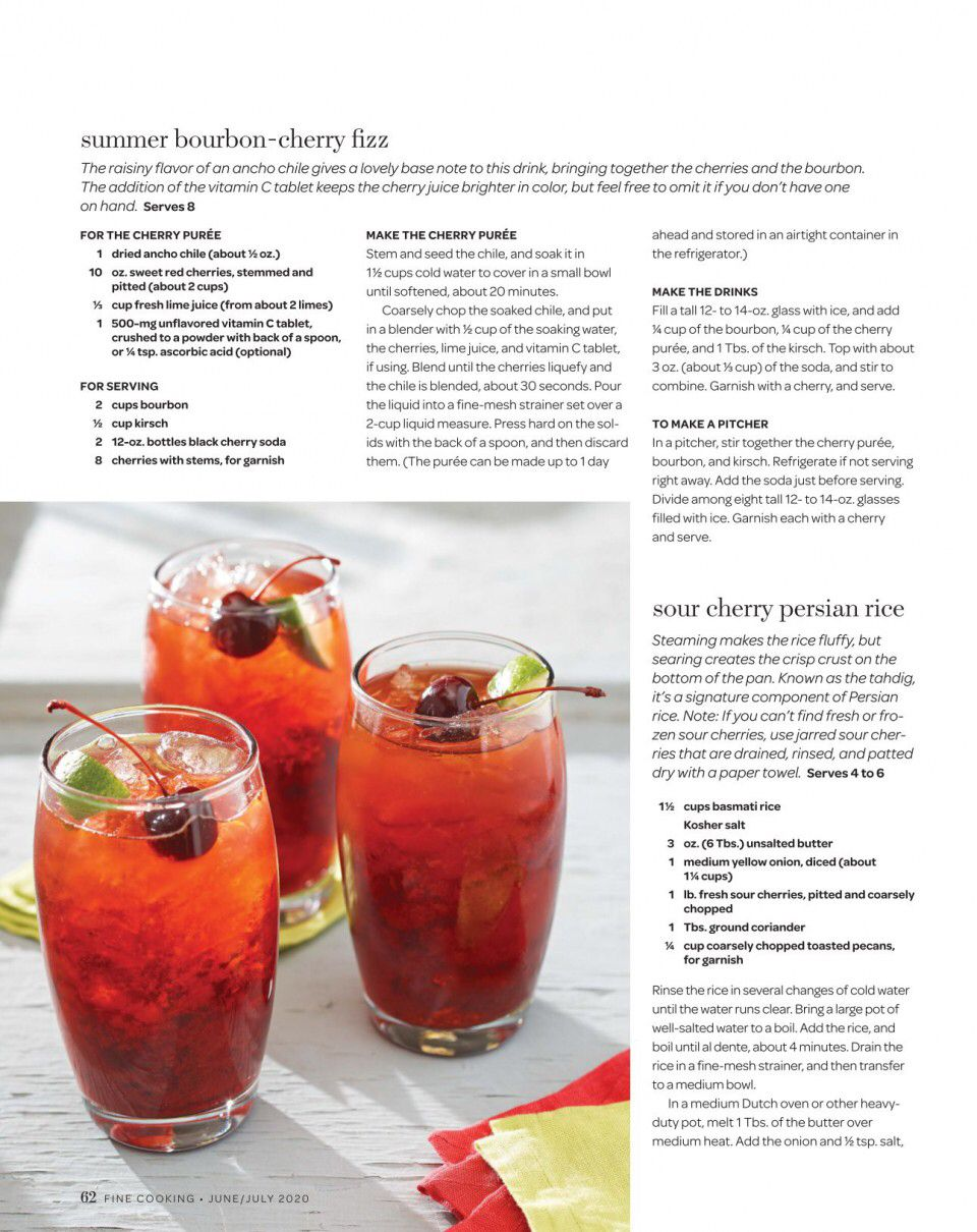 Page 62 From Issue June July 2020 In 2020 Bourbon Cherries Cherry Juice Vitamin Tablets
