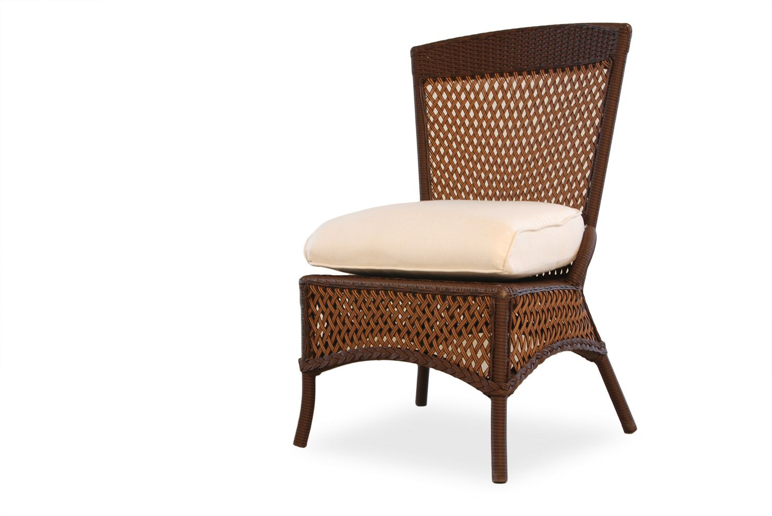 This grand #traverse style armless dining chair by #Lloyd #Flanders is truly a #chair you must own. Your family, friends, and even your deck will appreciate the style and comfort of this dining chair. Please comment if you love this #outdoor seating option! | Northern VA | Lawn & Leisure