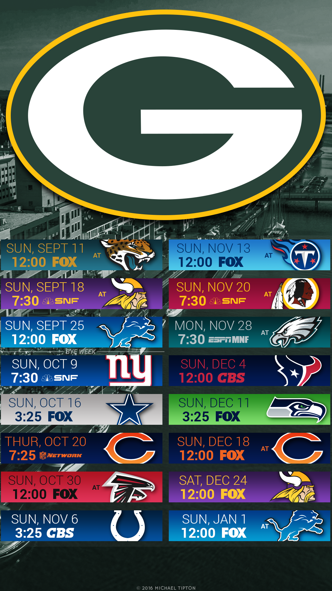 Green Bay Packers City Mobile Schedule Wallpaper Green