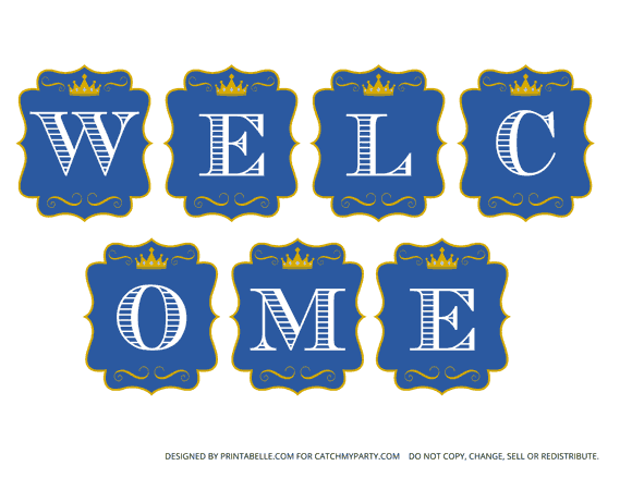little prince birthday welcome banner png 580 450 harry