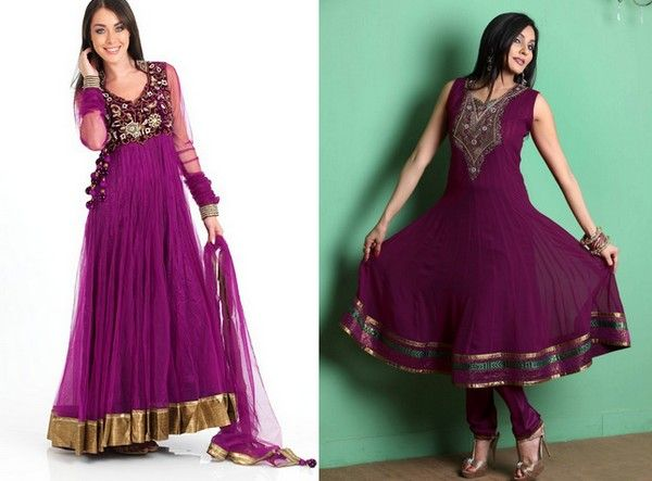 Pakistani dresses long frocks style
