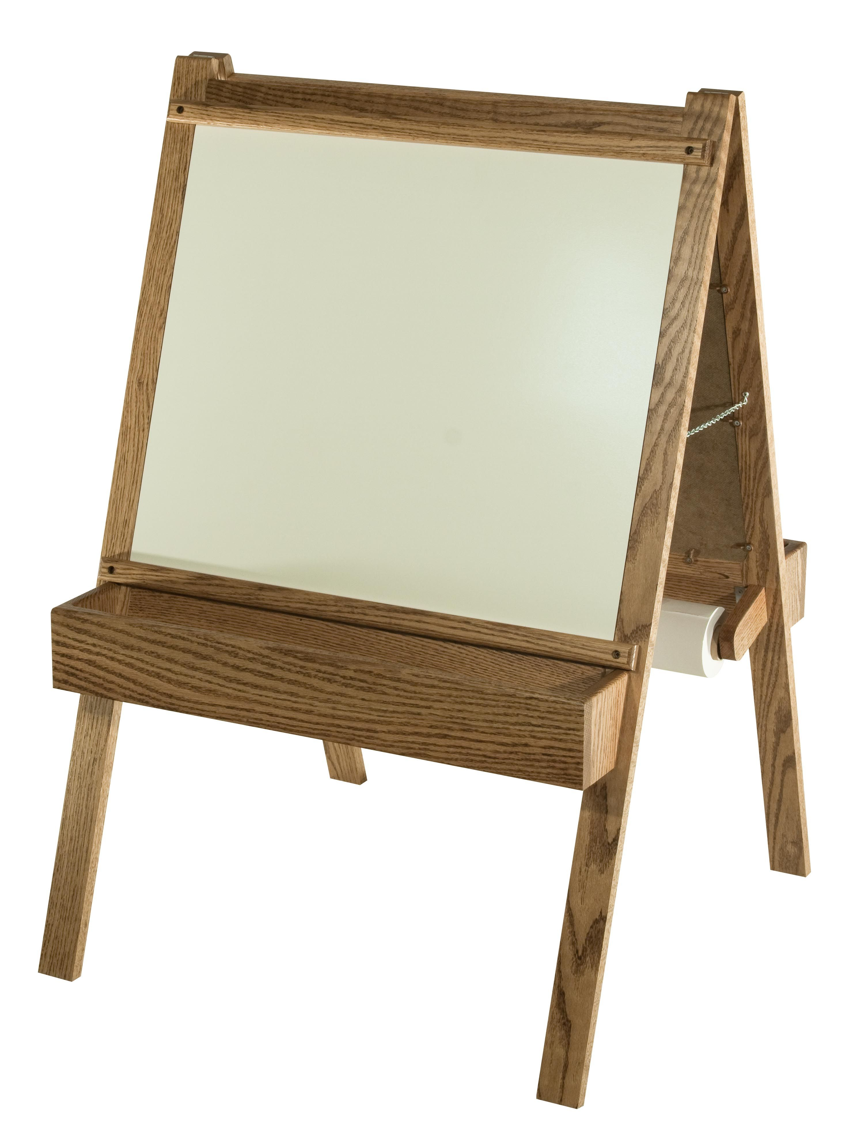 Solid Wood Child s Art Easel with Whiteboard and Chalkboard
