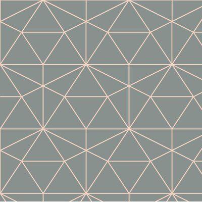 Olivia Poppy Graphic Quartz 24 L X 25 W Peel And Stick Wallpaper Roll In 2021 Wallpaper Roll Geometric Wallpaper Peel And Stick Wallpaper