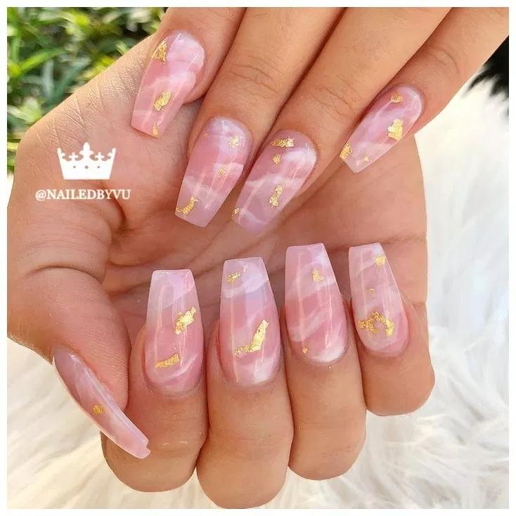 Photo of – – # Akrylnegler # JuleNegler #NailIdeas # PinkNails #PrettyNails – – –