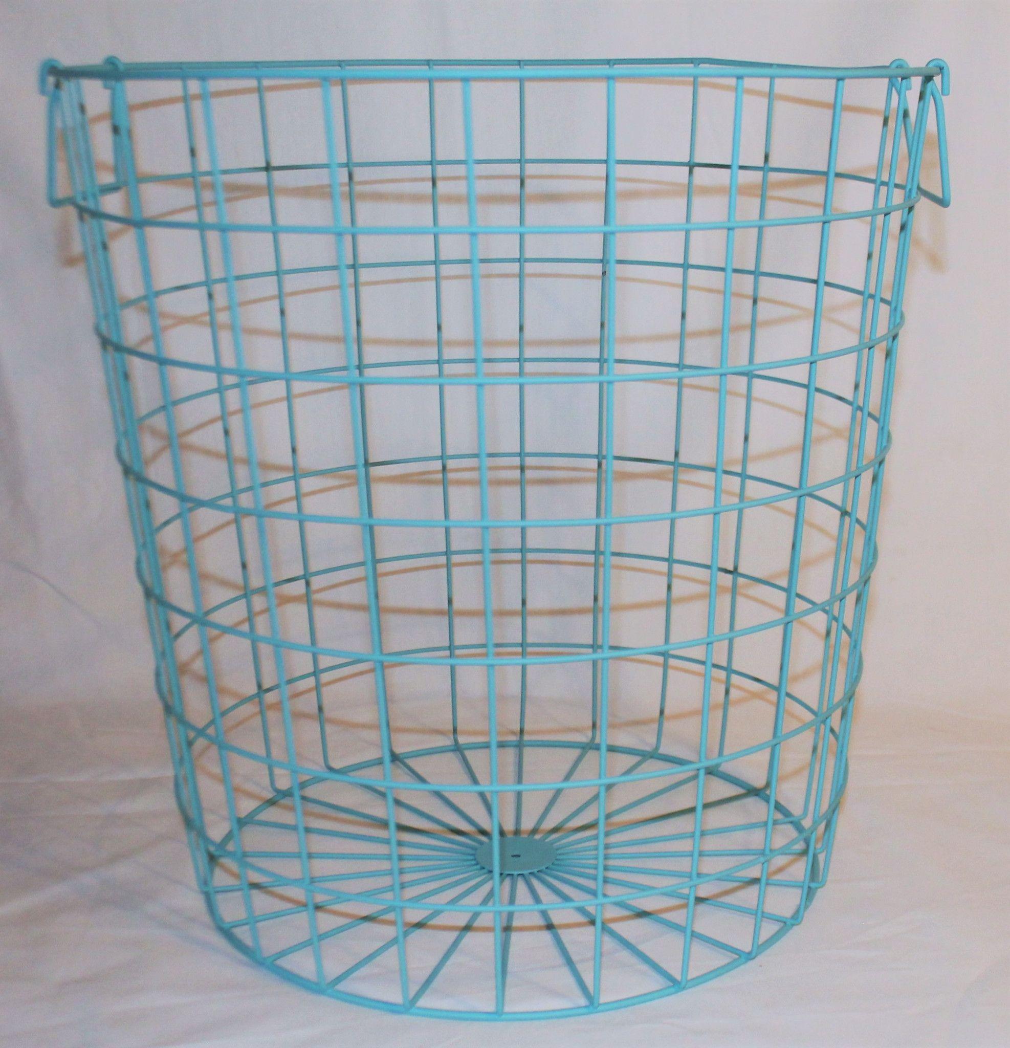 Large 16 x 16 Wire Hamper Baskets, 3 Colors | Hamper basket, Hamper ...
