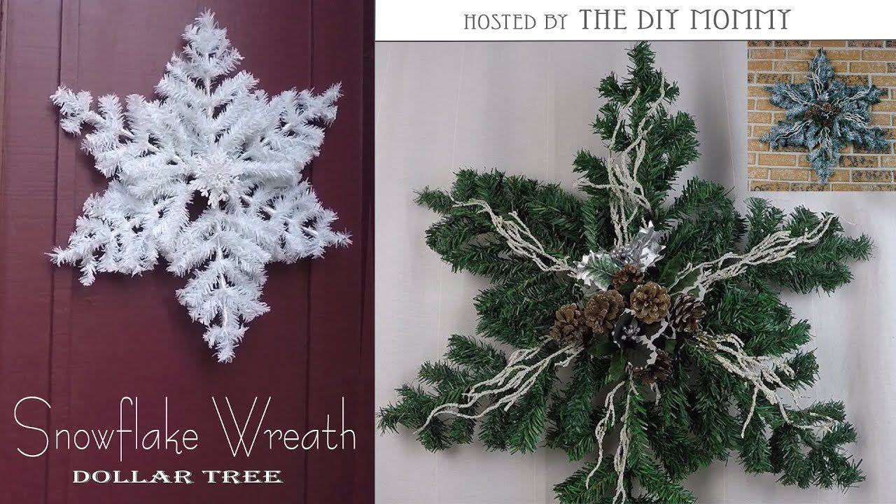 Snowflake Wreath / Christmas DIY & Decor Challenge Hosted