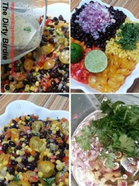 Black Bean and Corn Salad with Cilantro Lime Vinaigrette Recipe by HELENMMSIPES via @SparkPeople