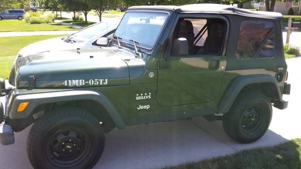 jeep wrangler willys edition sale