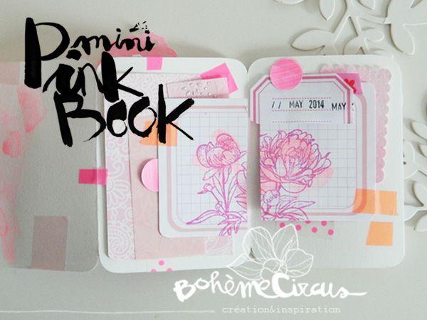 Omg jadore diy mini pink book scrapbooking bohme circus do it yourself solutioingenieria Choice Image