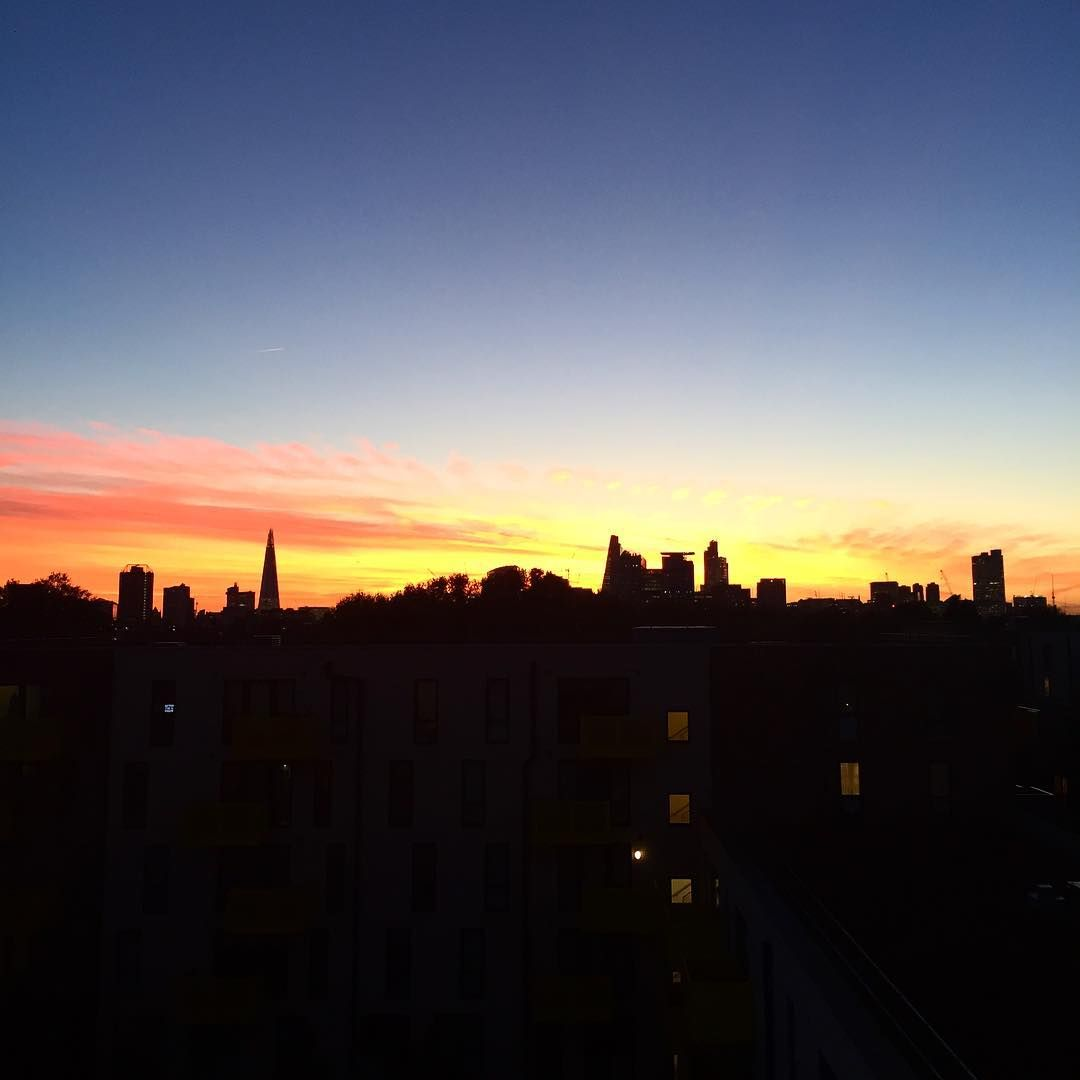 Amazing sunset. #sunset #london #londonsunset