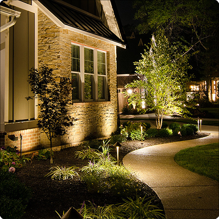 Fresh Up Your Outdoor With Our Lighting Tips Check Here Some Ideas Www Lightingst Outdoor Lighting Landscape Front Yard Lighting Outdoor Landscape Lighting