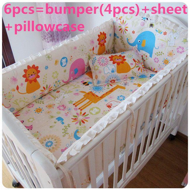 Cheap Promoción! 6 / 7 unids para niños juegos de cama cuna ropa de ...