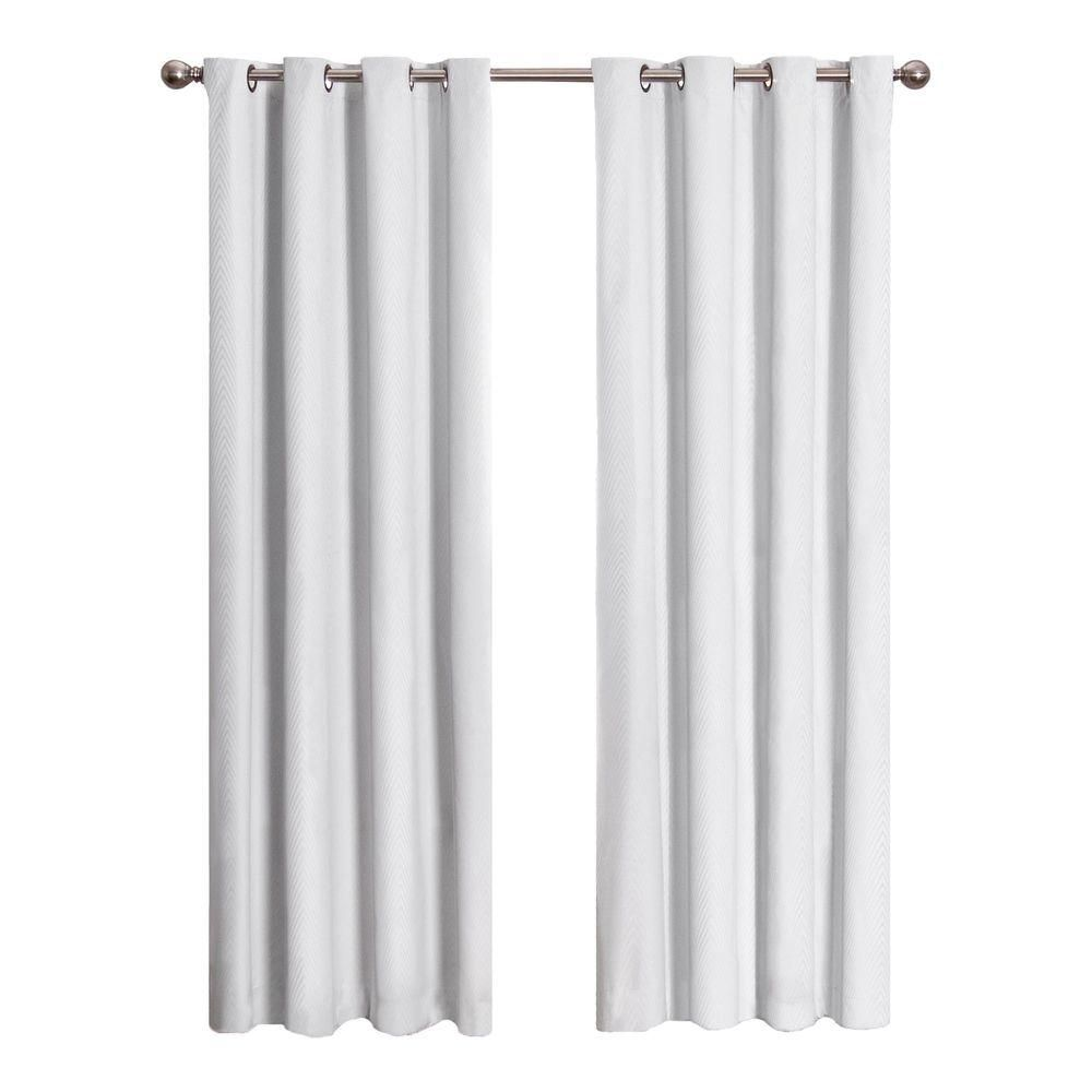 Eclipse Cassidy Blackout Window Curtain Panel In White 52 In W