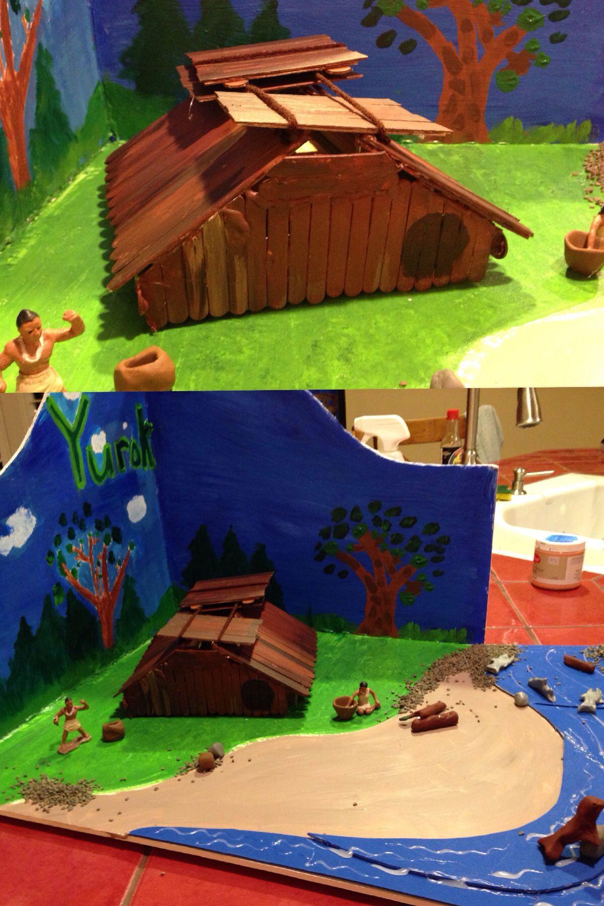 Yurok Plank House For Fourth Grade California Project