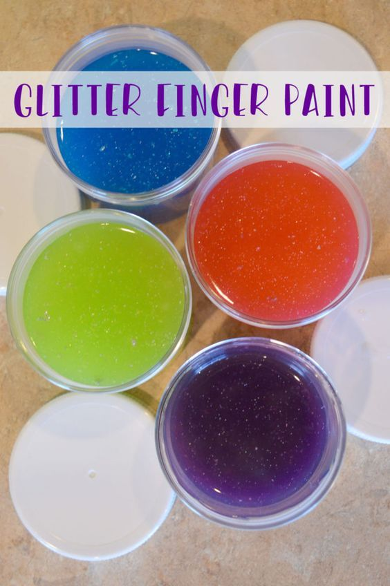 DIY Glitter Finger Paint Kids ZoneDecor CraftsDiy