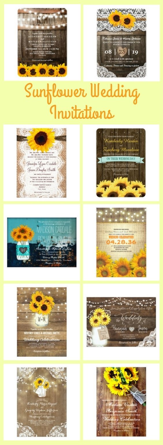 Wedding decorations yellow november 2018 These country rustic sunflower wedding invitations are great for a