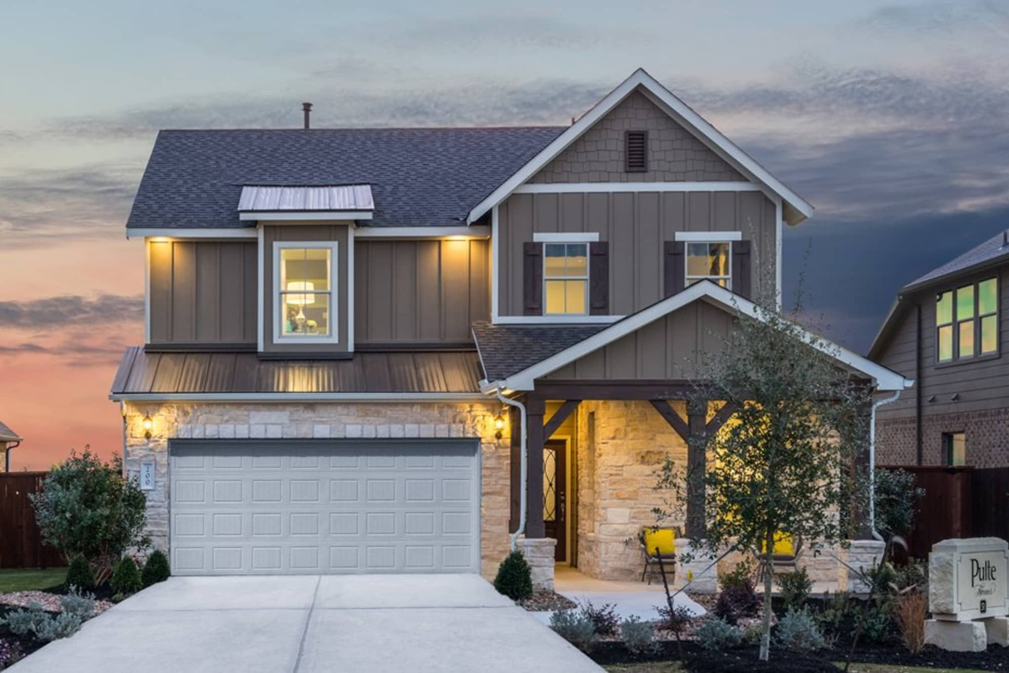 Santa Rita Ranch By Pulte Homes Country Home Exteriors Pulte Homes New Home Construction