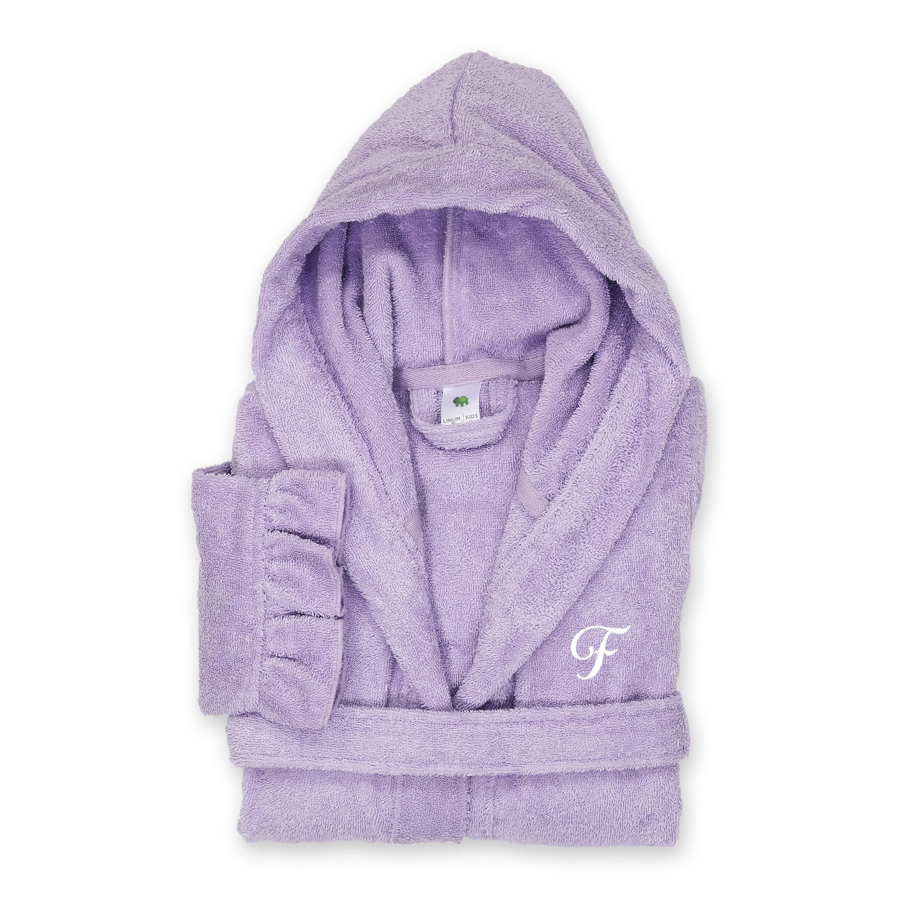 Hooded Herringbone Girls Fleece Pink Soft Spa Kimono Long Robe,Kids Comfy Sleepwear Bathrobe