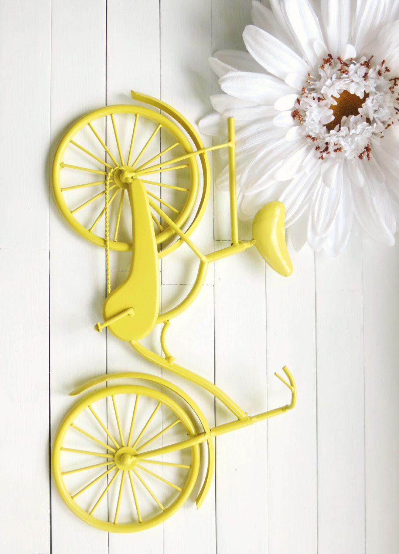 Metal Bicycle Wall Decor wall decor / metal bike art / beach decor / retro decor / bike