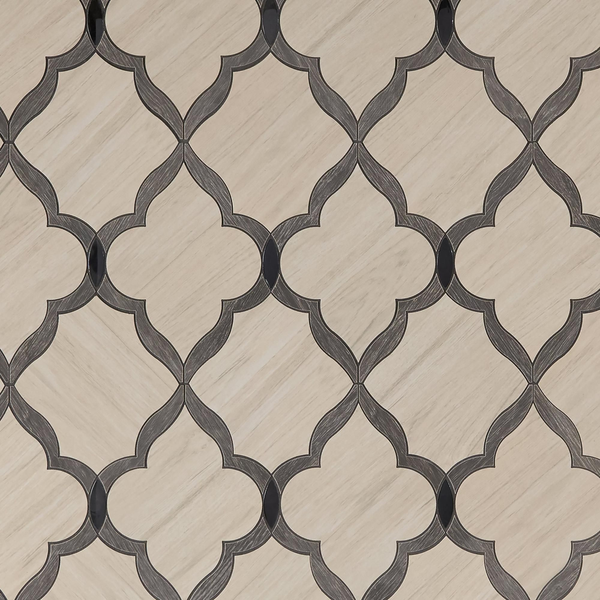 Beacon hill arabesque water jet cut porcelain mosaic mosaics beacon hill arabesque water jet cut porcelain mosaic 15in x 11in 100249309 dailygadgetfo Gallery