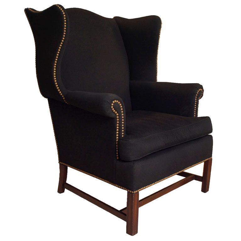 george iii style wingback chair wingback chairs nailhead trim and