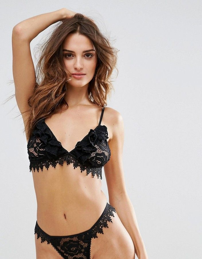 Sale Geniue Stockist Lace Triangle Bra - Black Glamorous Buy Cheap Brand New Unisex Y4KNg
