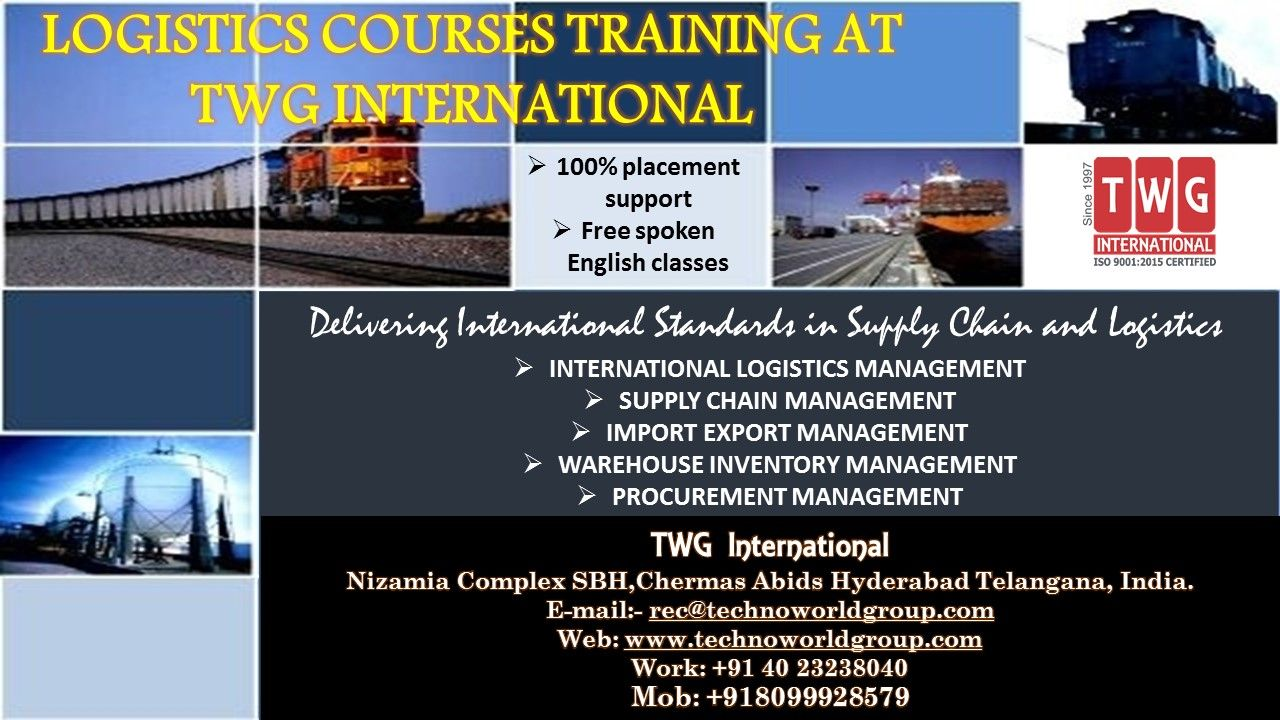 LogisticsCourses Training at TWGInternational Nizamia