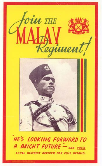 A poster to persuade Malaya people to join army   History of