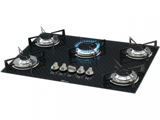 62fa4faf9 Cooktop 5 Bocas Fischer Decor Slim a Gás Elétrico Acendimento  Superautomático - Cooktops - Magazine Luiza