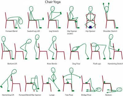 7 Best Images Of Printable Chair Yoga Exercises For Seniors Poses Senior And