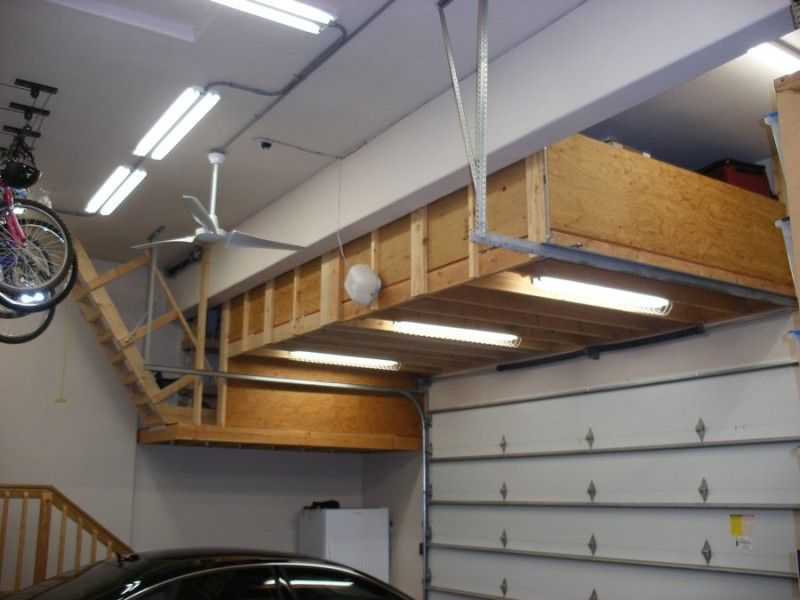 Charming Build A Storage Loft In Garage With Stairs And Slide   Google Search