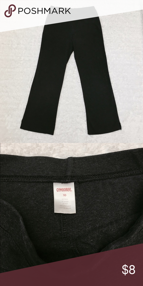 Gymboree Pants Heather gray comfy Gymboree pants. Cute little bottom side slit (about an inch and a half). Excellent condition. Tote 6 Gymboree Bottoms