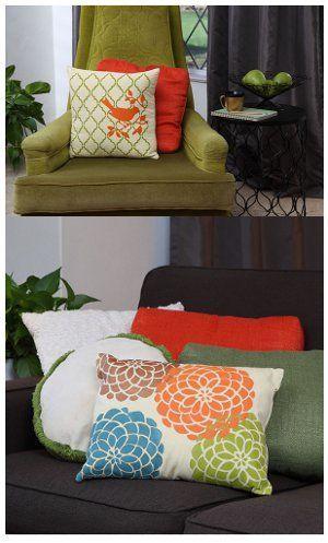 Almohadas perfectamente pintadas