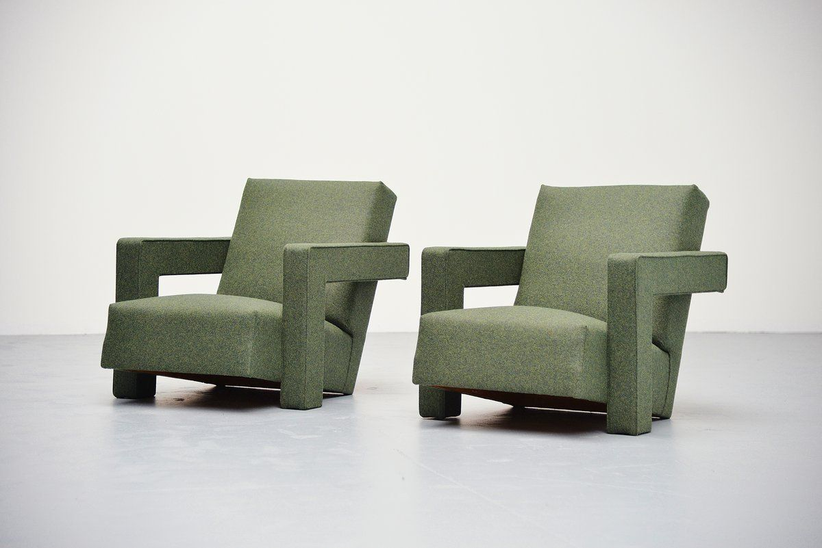 Gerrit Thomas Rietveld Utrecht Chairs Metz And Co 1961 At 1stdibs Furniture Vintage Lounge Chair Furniture Design