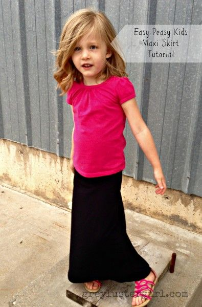 558479059 Easy Peasy Kids Maxi Skirt Tutorial Sewing Kids Clothes, Sewing For Kids,  Diy For
