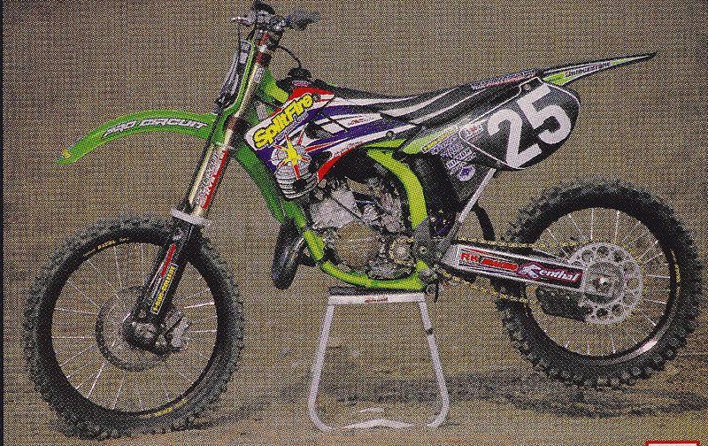 1999 Splitfire Pro Circuit Kawasaki KX125 of Nathan Ramsey | Bad ass