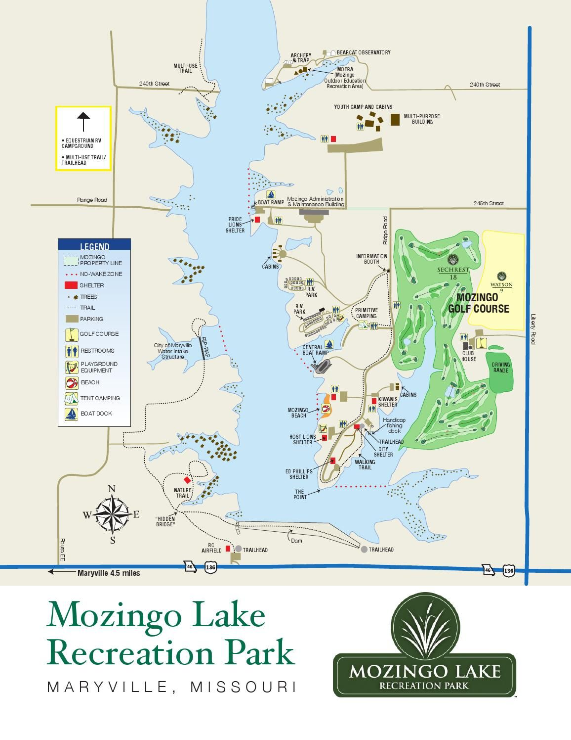 Northwest Missouri Map.Mozingo Lake Recreation Park Map Take A Hike Pinterest