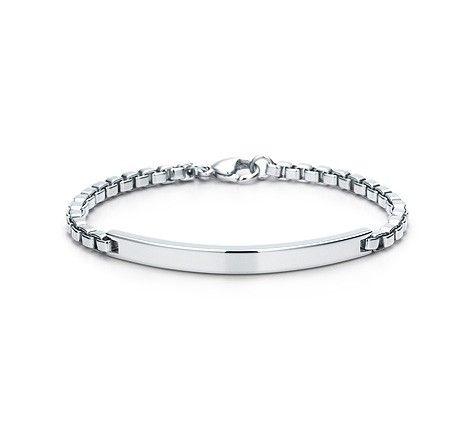 4cd54eedc55d7 Venetian Link I.D. Bracelet | Jewlery | Tiffany bracelets, Bracelets ...