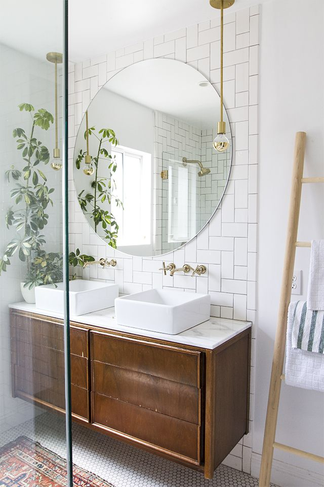 Master Bath Finished Tour | Baños | Espejos para baños ...
