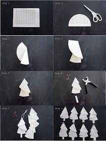 Und ich falte und falte....  Anleitung für die Bäumchen aus alten Buchseiten... Tutorial... #christbaumschmuckbastelnkinder